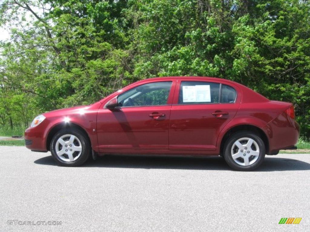 2007 Cobalt LT Sedan - Victory Red / Gray photo #6