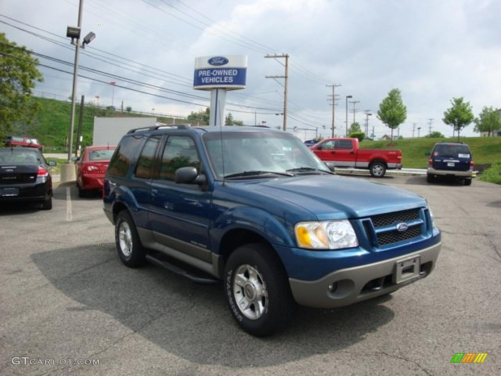 2001 Explorer Sport 4x4 - Island Blue Metallic / Dark Graphite photo #1