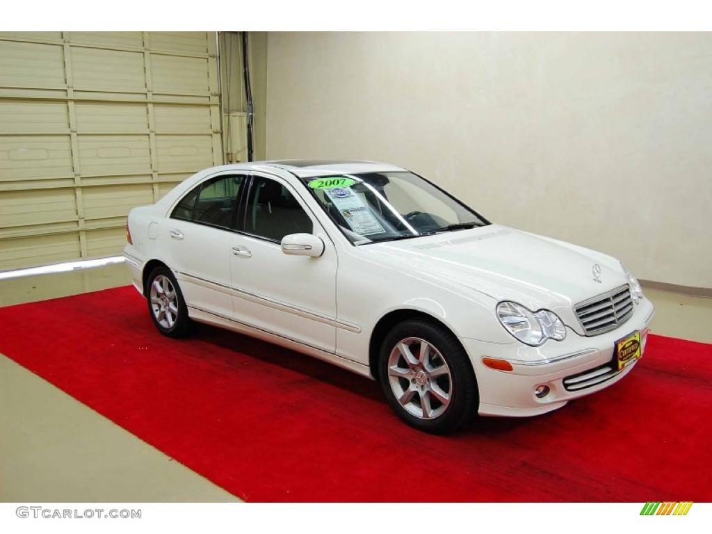 2007 arctic white mercedes benz c 280 4matic luxury for 2007 mercedes benz 280