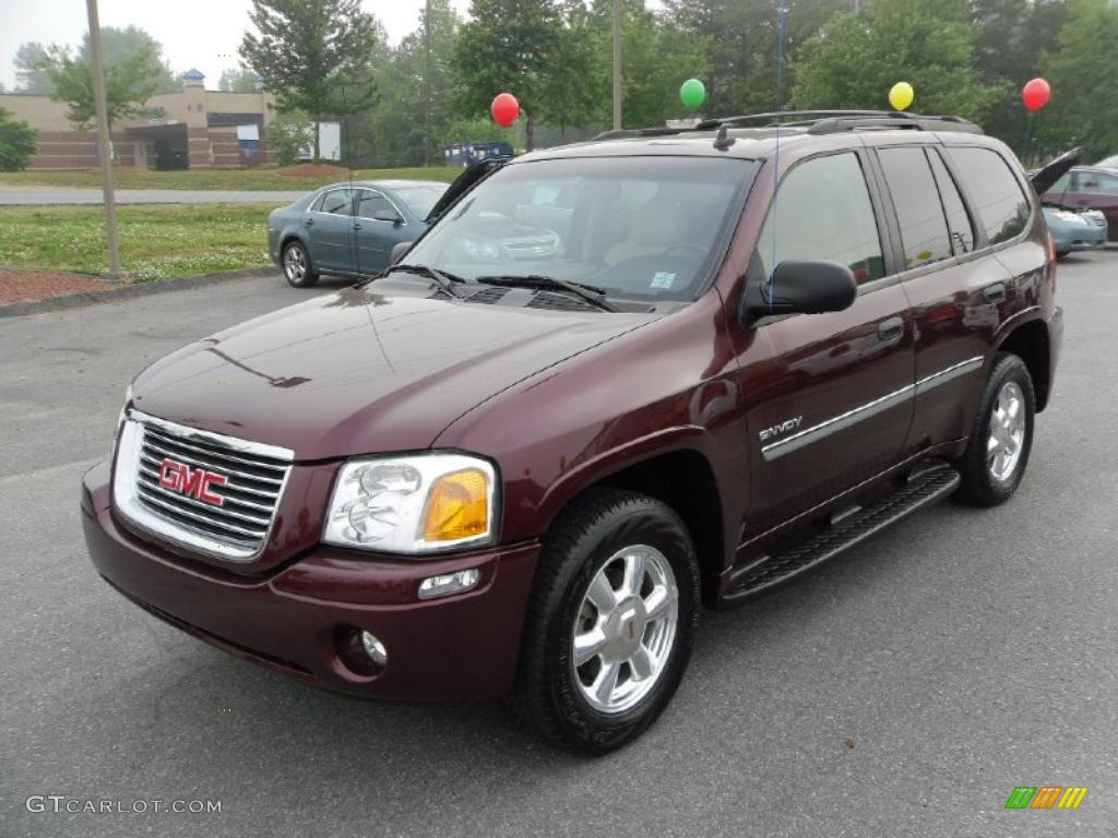 2006 cranberry red metallic gmc envoy slt 30037023. Black Bedroom Furniture Sets. Home Design Ideas