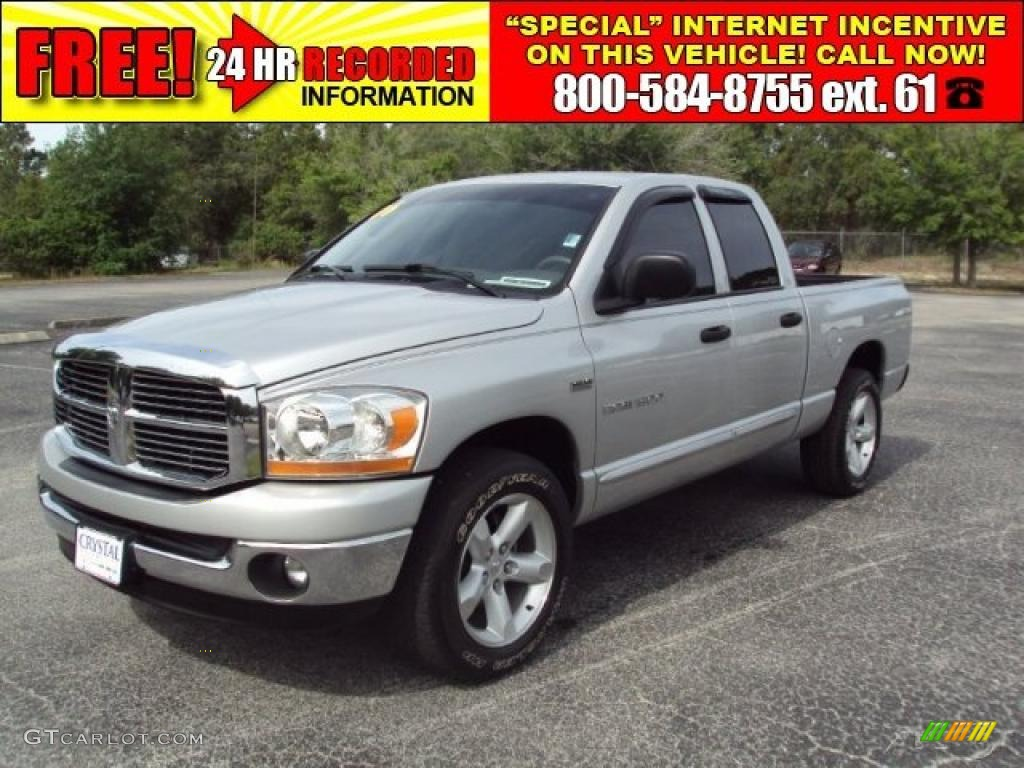 2006 Ram 1500 SLT Quad Cab - Bright Silver Metallic / Medium Slate Gray photo #1