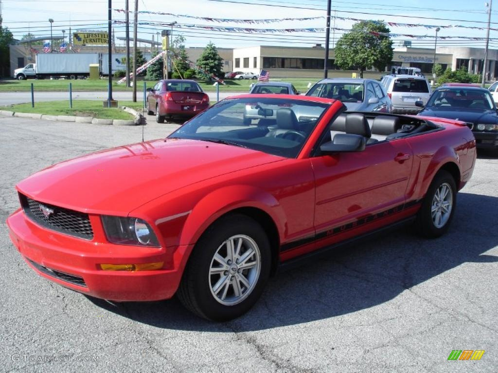 2007 Mustang V6 Premium Convertible - Torch Red / Black Leather photo #1