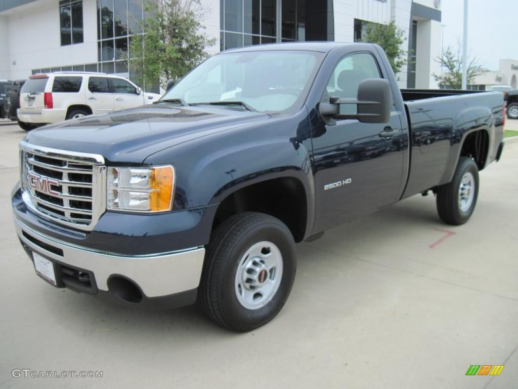Midnight Blue Metallic Gmc Sierra 2500hd Work Truck