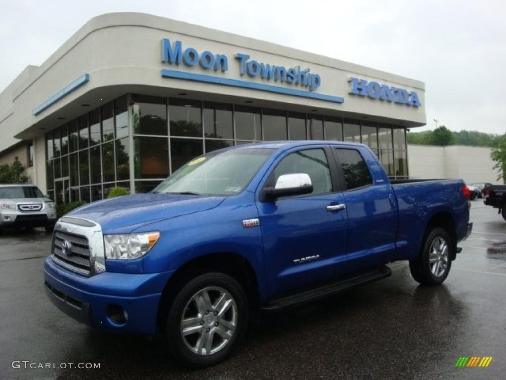 2008 Tundra Limited Double Cab 4x4 - Blue Streak Metallic / Graphite Gray photo #1