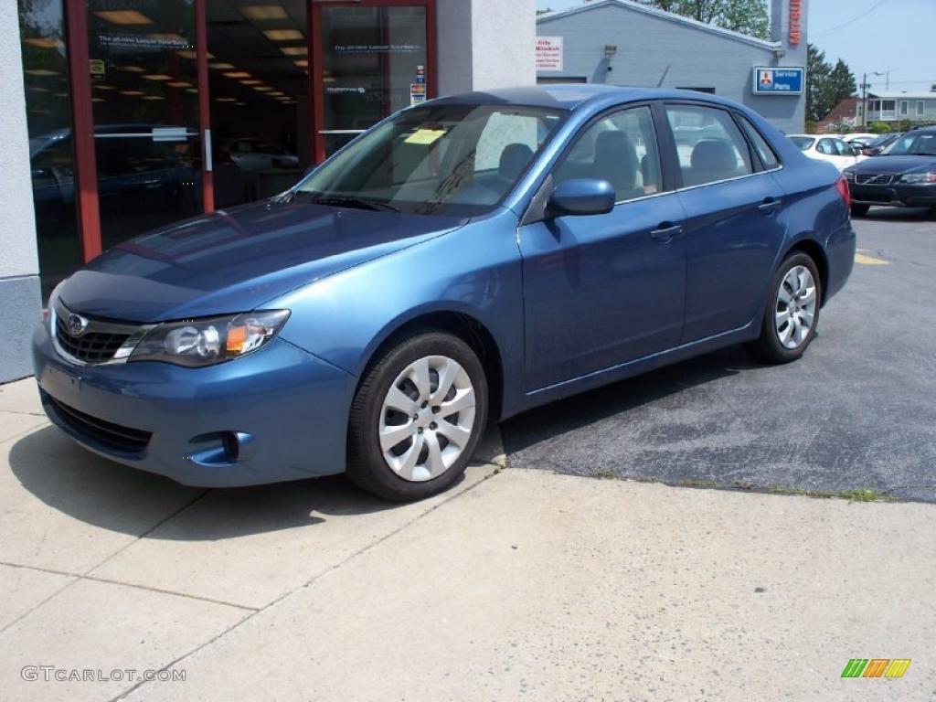 2009 Newport Blue Pearl Subaru Impreza 2 5i Sedan