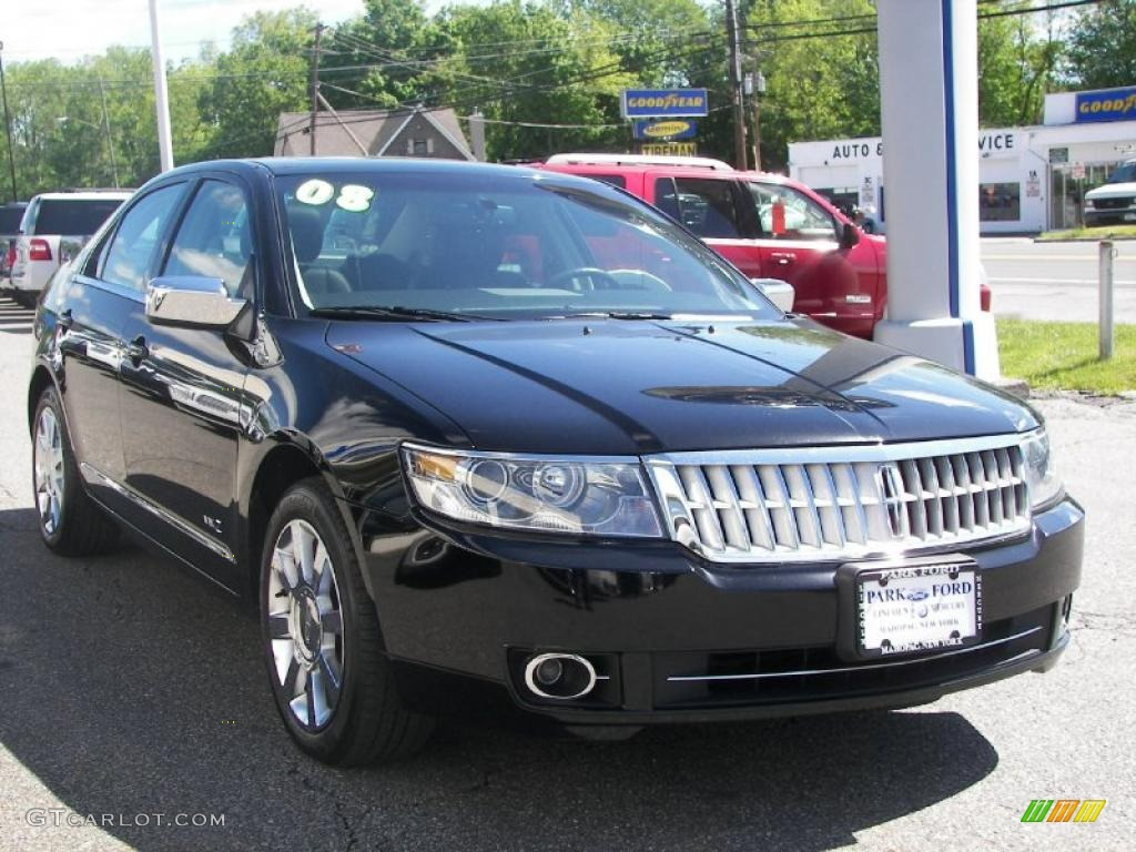 2008 MKZ AWD Sedan - Black / Dark Charcoal photo #1