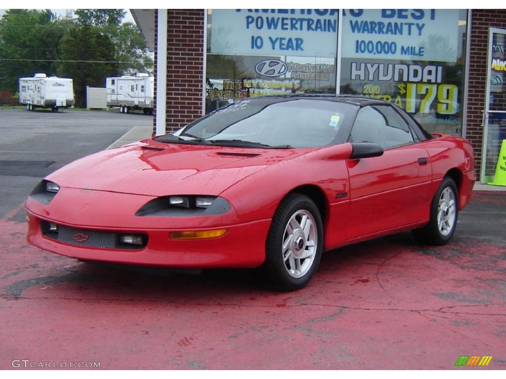 1996 bright red chevrolet camaro z28 coupe 30157993 car color galleries. Black Bedroom Furniture Sets. Home Design Ideas