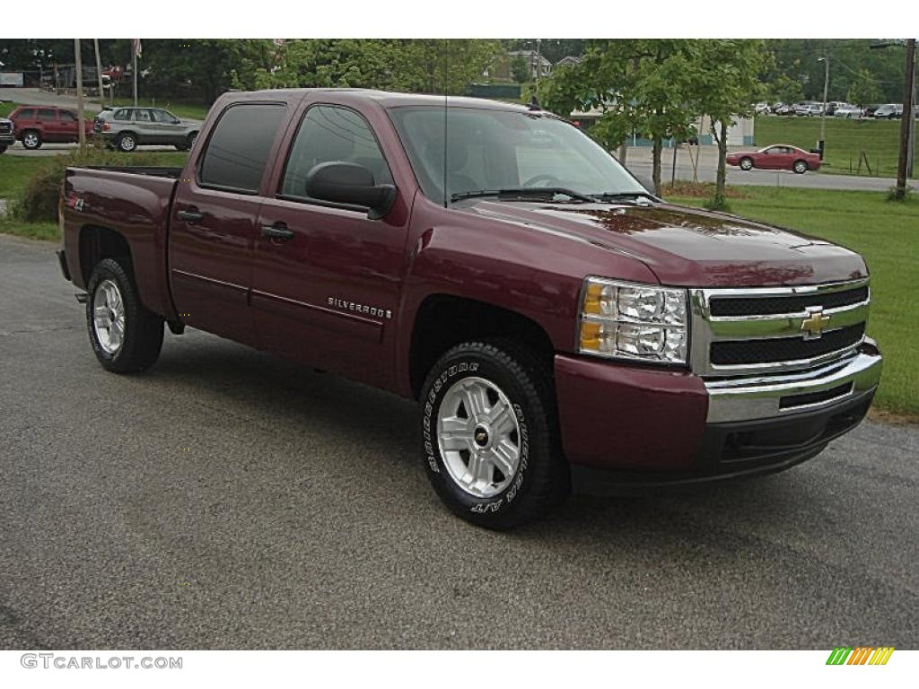 2009 Silverado 1500 LT Z71 Crew Cab 4x4 - Deep Ruby Red Metallic / Ebony photo #1