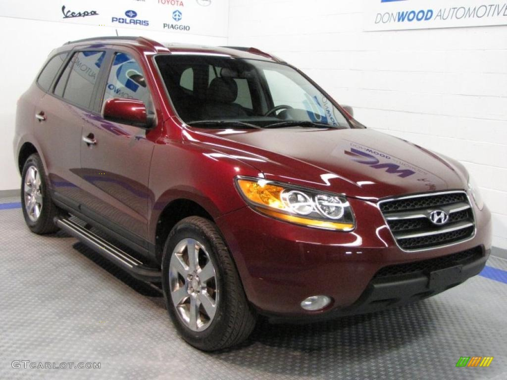 2008 dark cherry red hyundai santa fe limited 30037635 car color galleries. Black Bedroom Furniture Sets. Home Design Ideas