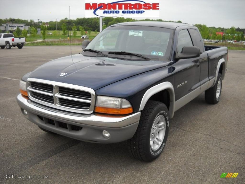 2001 patriot blue pearl dodge dakota slt club cab 4x4. Black Bedroom Furniture Sets. Home Design Ideas