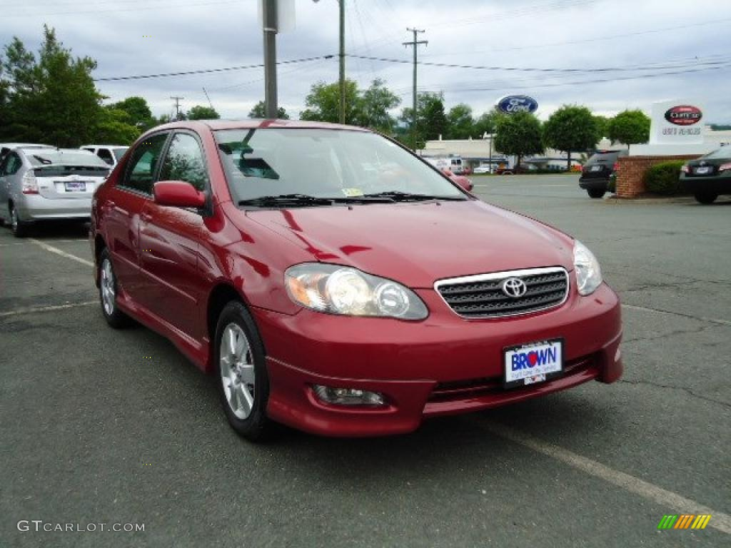 2006 impulse red pearl toyota corolla s 30158524 car color galleries. Black Bedroom Furniture Sets. Home Design Ideas