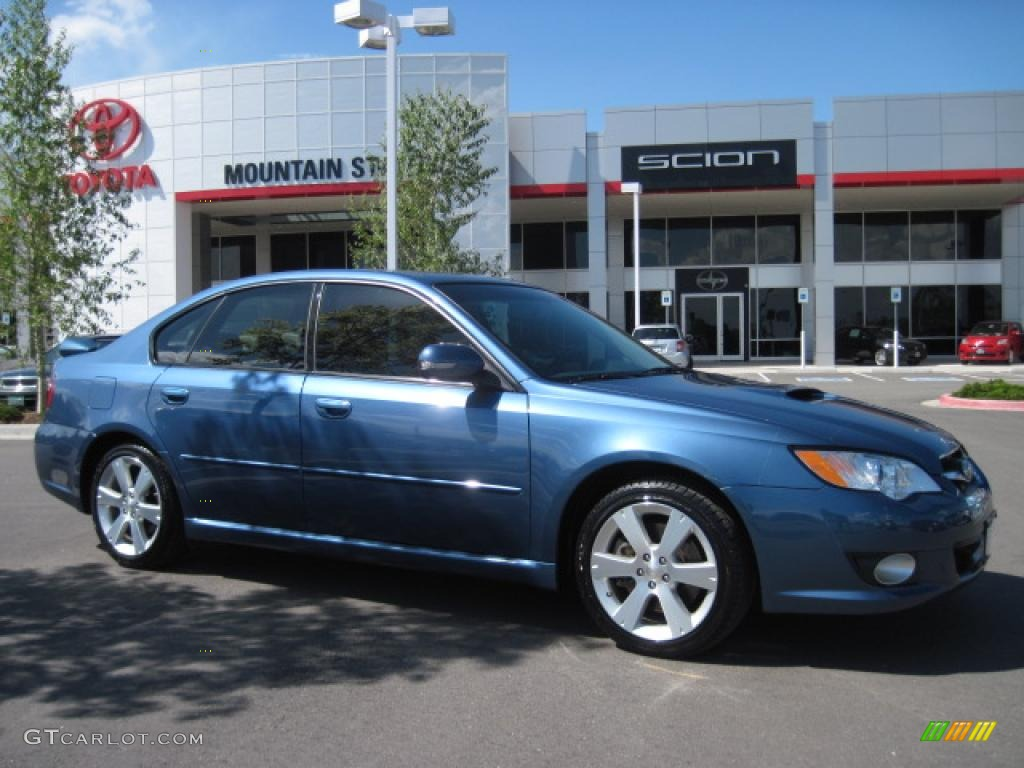 2008 newport blue pearl subaru legacy 2.5 gt limited sedan