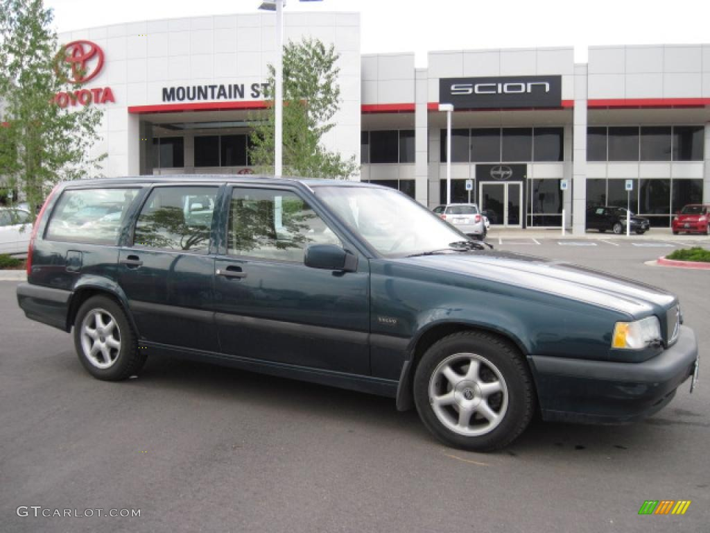 1995 850 GLT Wagon - Blue Green Metallic / Taupe photo #1