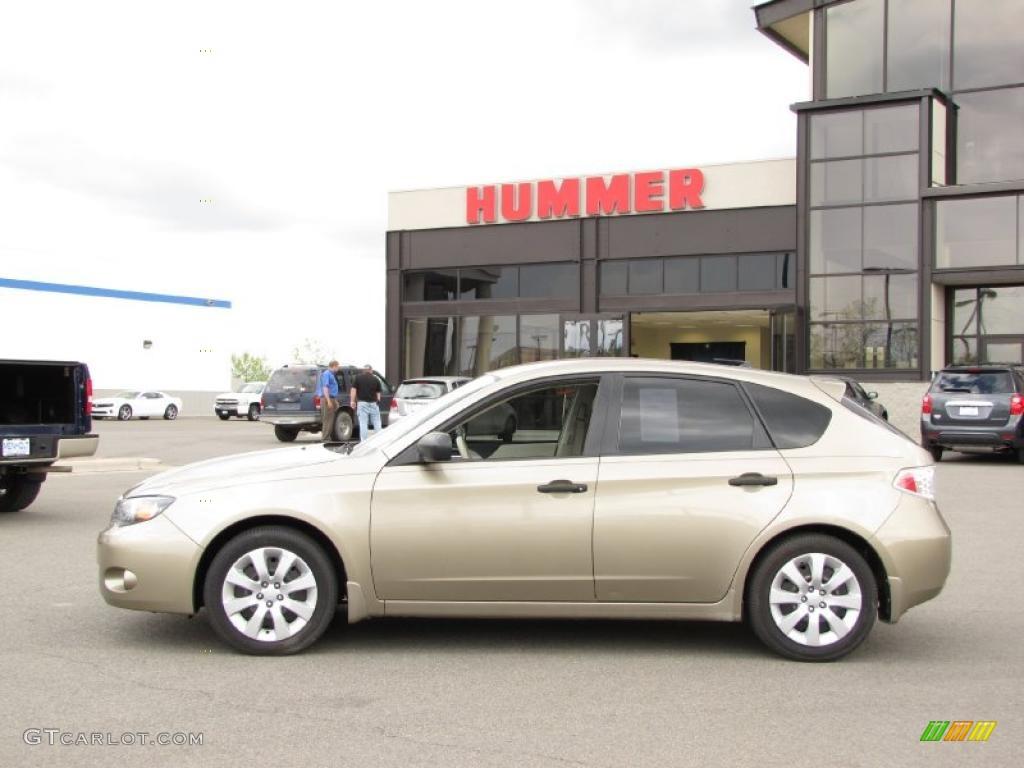 2008 topaz gold metallic subaru impreza 2.5i wagon #30214300