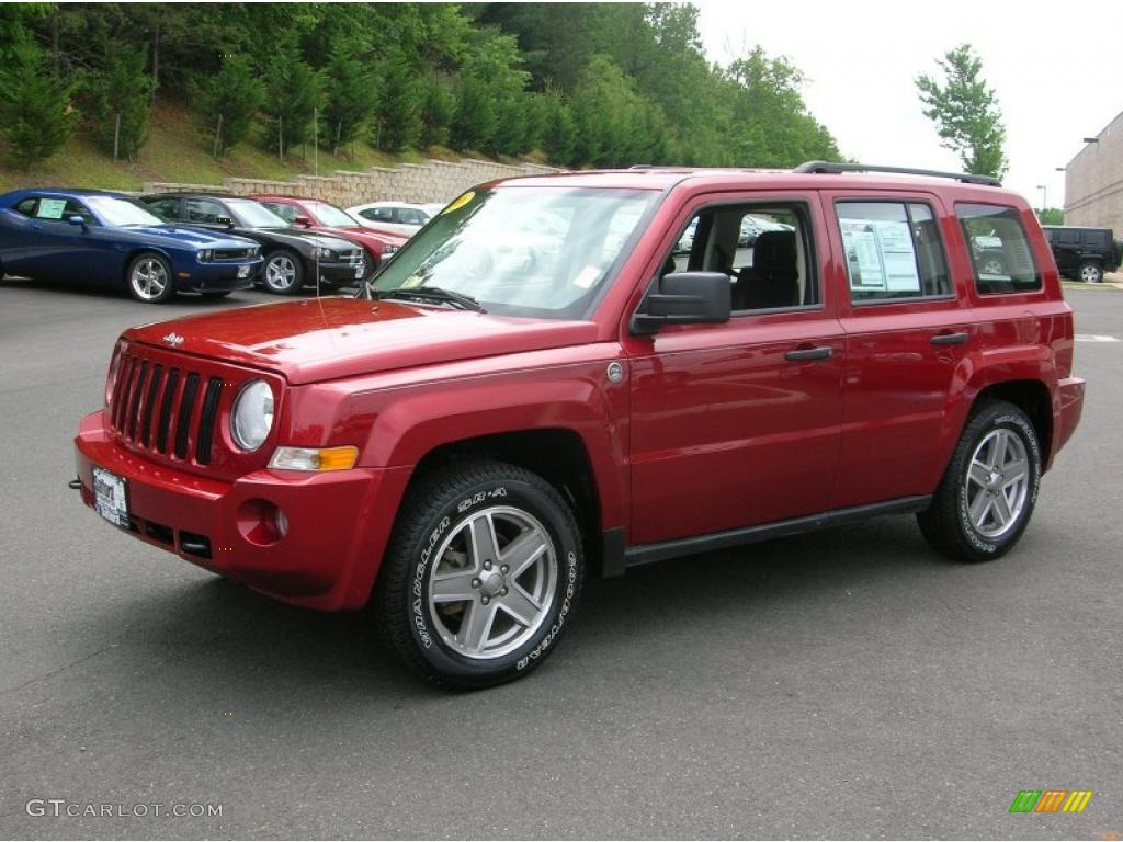 2008 red crystal pearl jeep patriot sport 4x4 #30214321 | gtcarlot