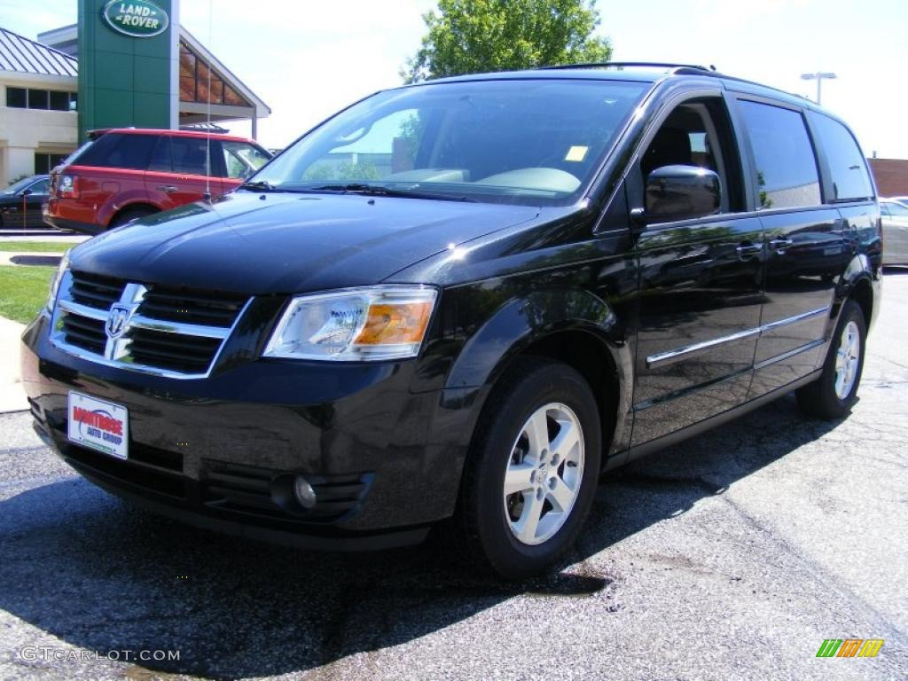 2009 brilliant black crystal pearl dodge grand caravan sxt. Black Bedroom Furniture Sets. Home Design Ideas