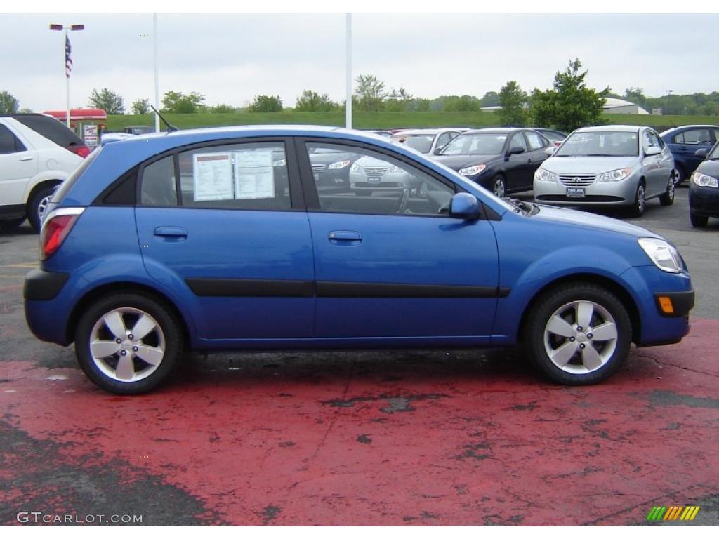 2007 Sapphire Blue Kia Rio Rio5 Sx Hatchback 30213869