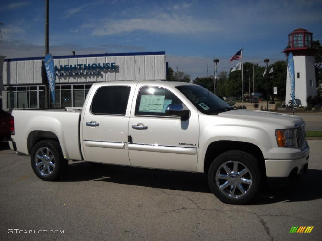 2010 white diamond tricoat gmc sierra 1500 denali crew cab awd 30214476 car. Black Bedroom Furniture Sets. Home Design Ideas