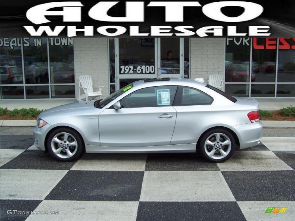 2008 Titanium Silver Metallic BMW 1 Series 128i Coupe #30214191 ...