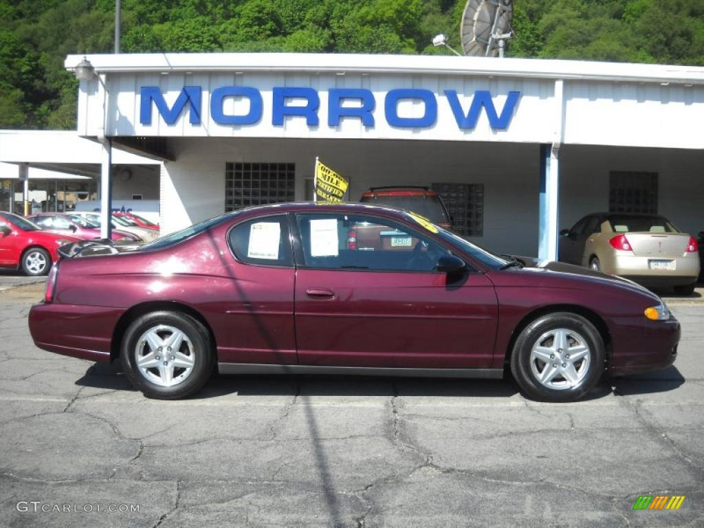 2004 berry red metallic chevrolet monte carlo ls 30280927. Black Bedroom Furniture Sets. Home Design Ideas