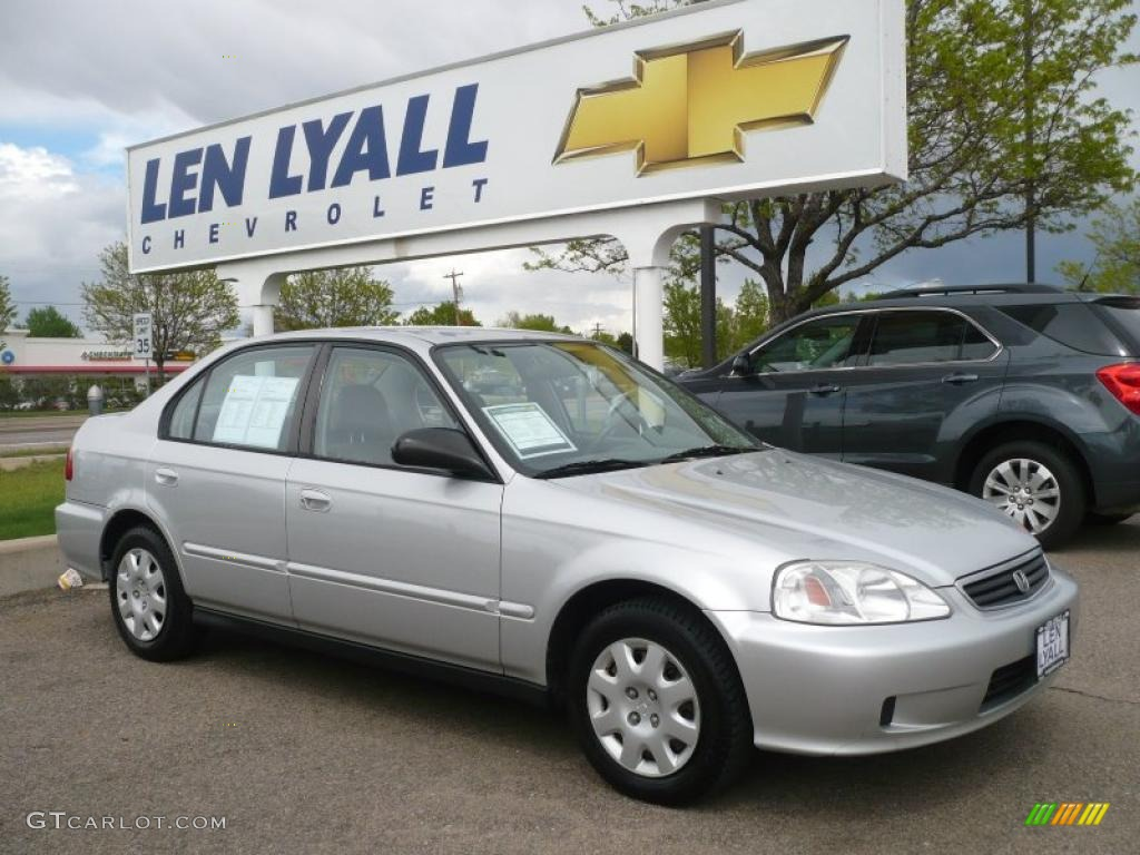 2000 vogue silver metallic honda civic vp sedan 30280937 for Honda civic vp