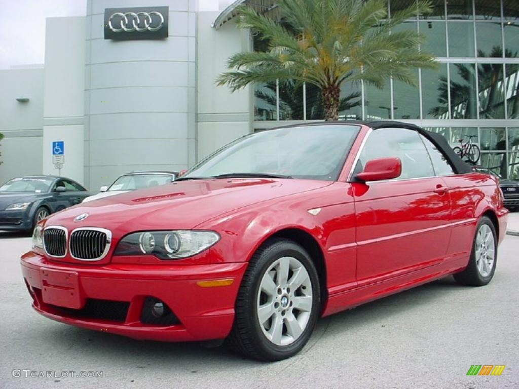 2006 Electric Red Bmw 3 Series 325i Convertible 30280809