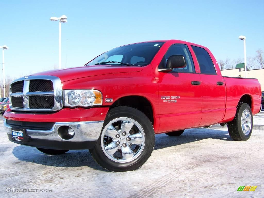 2005 flame red dodge ram 1500 big horn edition quad cab. Black Bedroom Furniture Sets. Home Design Ideas