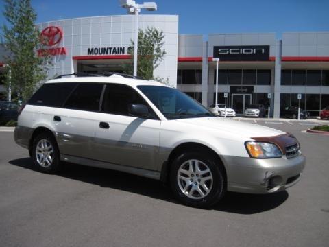 Subaru Outback 2004. 2004 White Frost Pearl Subaru