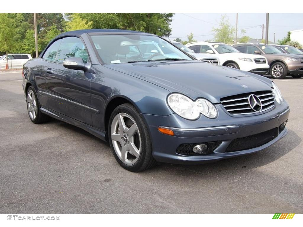 2005 cadet blue metallic mercedes benz clk 500 cabriolet for Mercedes benz clk 2005