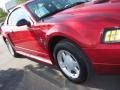 2001 Laser Red Metallic Ford Mustang V6 Coupe  photo #38