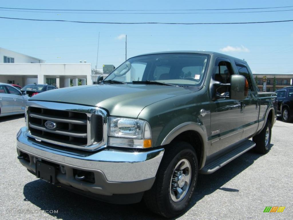 2004 Estate Green Metallic Ford F250 Super Duty King Ranch Crew Cab 4x4 30330541