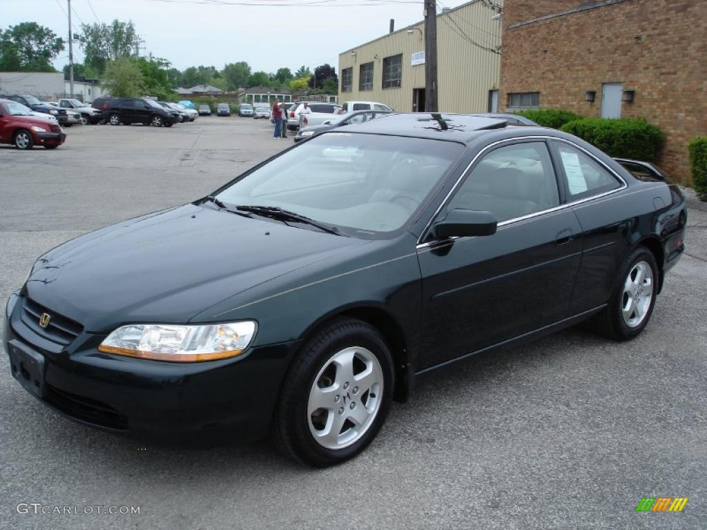 1998 Accord Ex V6 Coupe Dark Emerald Pearl Ivory Photo 1
