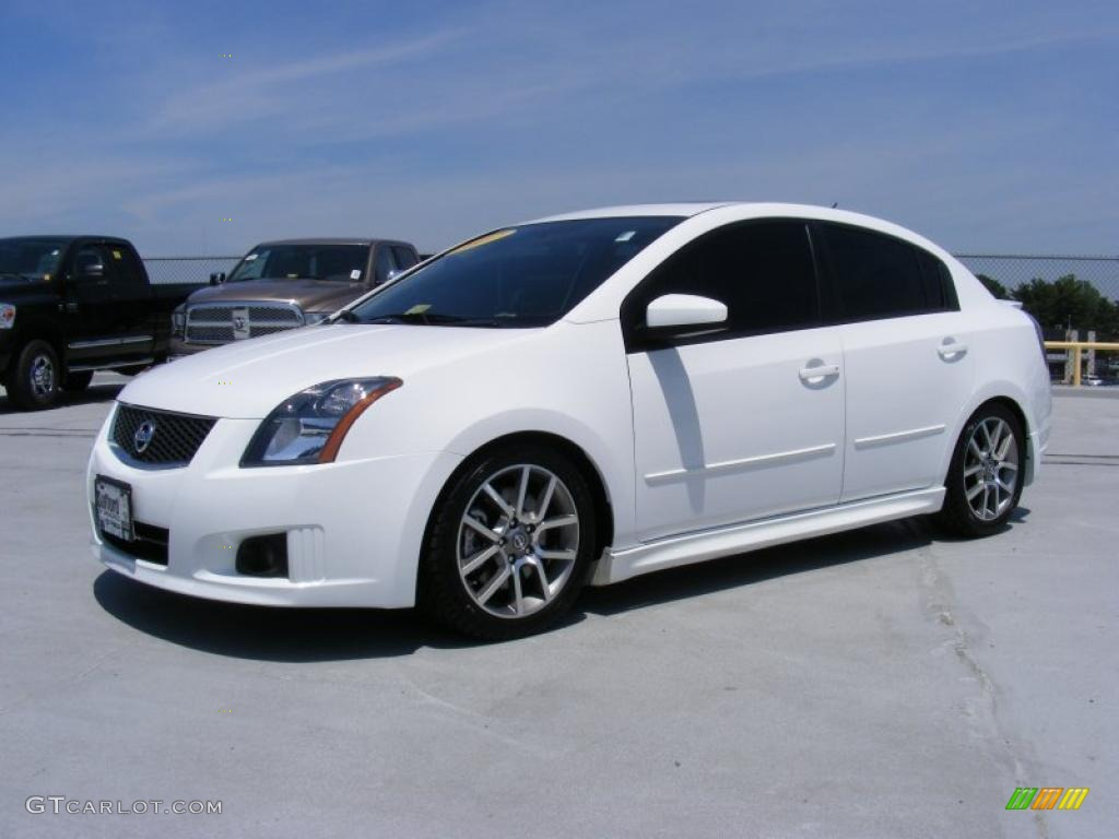 2007 Fresh Powder White Nissan Sentra Se R Spec V