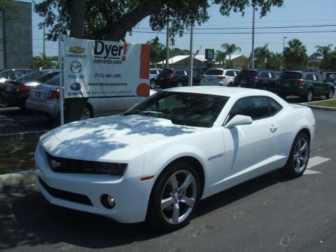 2010 Summit White Chevrolet Camaro LT/RS Coupe