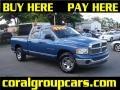 2002 Atlantic Blue Pearl Dodge Ram 1500 SLT Quad Cab  photo #1