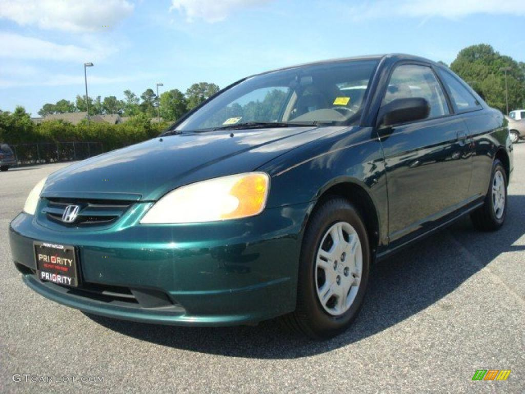 2002 clover green metallic honda civic lx coupe 30367435. Black Bedroom Furniture Sets. Home Design Ideas
