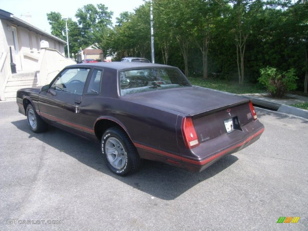 1987 Dark Maroon Metallic Chevrolet Monte Carlo Ss 30367858 Photo 3 Car Color