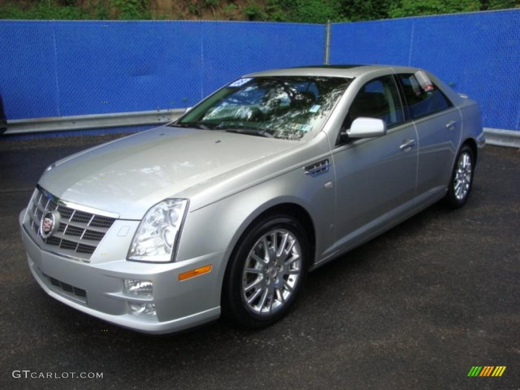 2008 light platinum cadillac sts 4 v8 awd 30424641. Black Bedroom Furniture Sets. Home Design Ideas