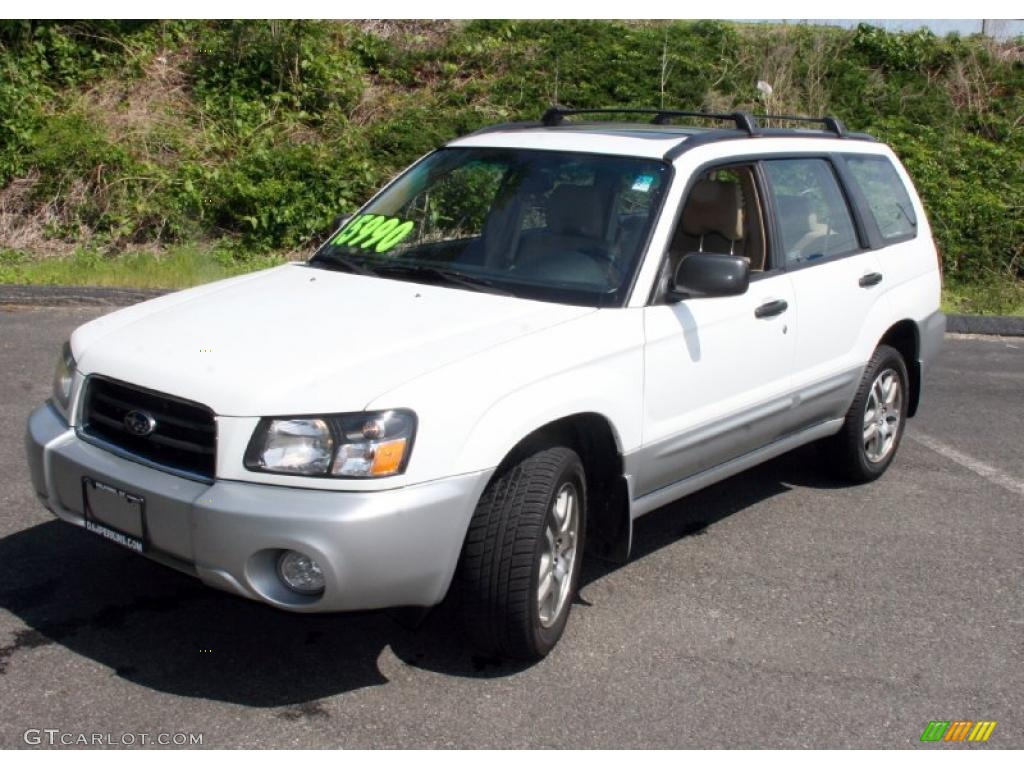 2005 aspen white subaru forester 2 5 xs l l bean edition 30431857 car color. Black Bedroom Furniture Sets. Home Design Ideas