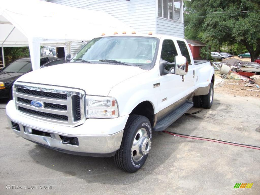 2007 oxford white ford f350 super duty lariat crew cab. Black Bedroom Furniture Sets. Home Design Ideas