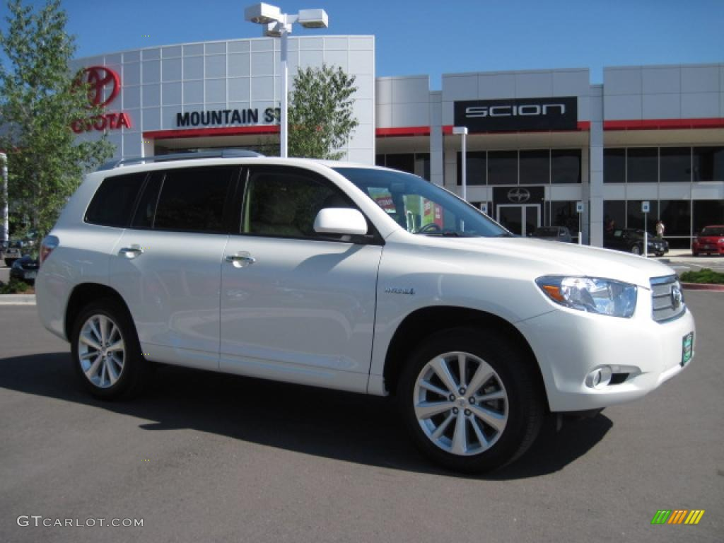 2009 Blizzard White Pearl Toyota Highlander Hybrid Limited 4wd 30431872