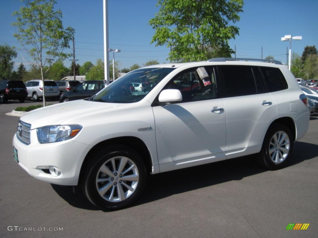 2009 blizzard white pearl toyota highlander hybrid limited. Black Bedroom Furniture Sets. Home Design Ideas