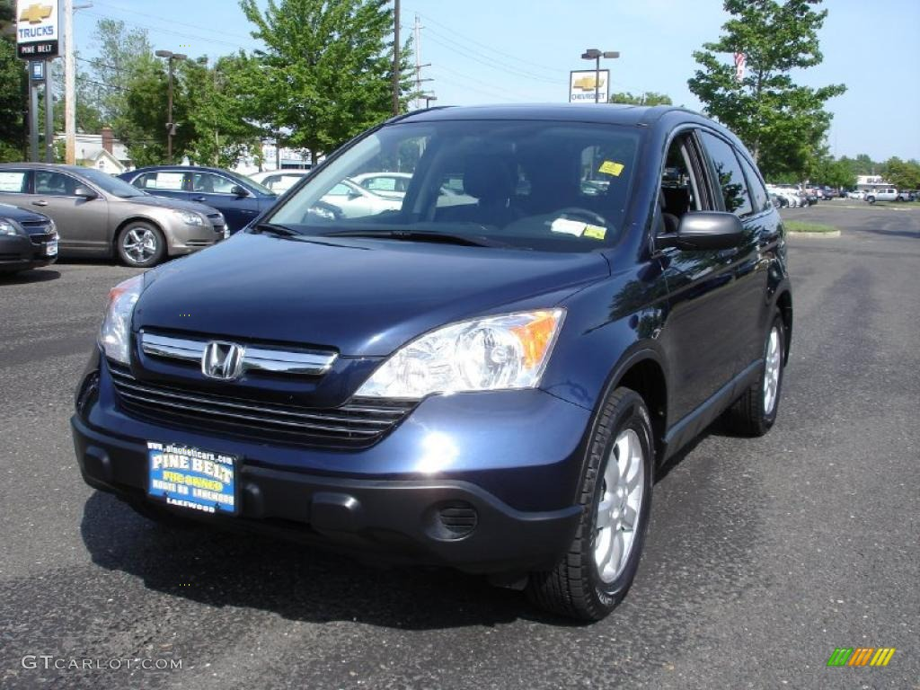 2008 CR-V EX 4WD - Royal Blue Pearl / Black photo #1
