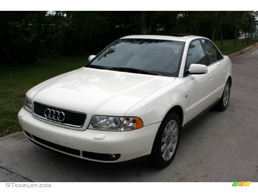 2001 casablanca white audi a4 2 8 quattro sedan 30432219 car color galleries. Black Bedroom Furniture Sets. Home Design Ideas