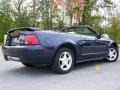 2003 True Blue Metallic Ford Mustang V6 Convertible  photo #10