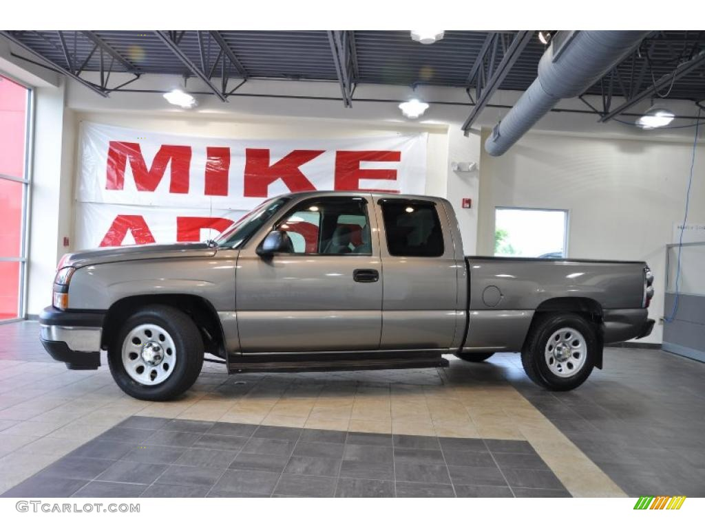 2006 Silverado 1500 LS Extended Cab - Graystone Metallic / Medium Gray photo #1