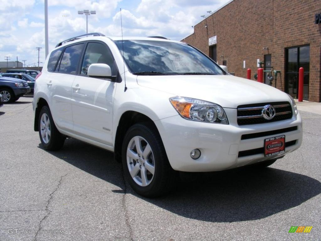 2007 blizzard white pearl toyota rav4 limited 4wd. Black Bedroom Furniture Sets. Home Design Ideas