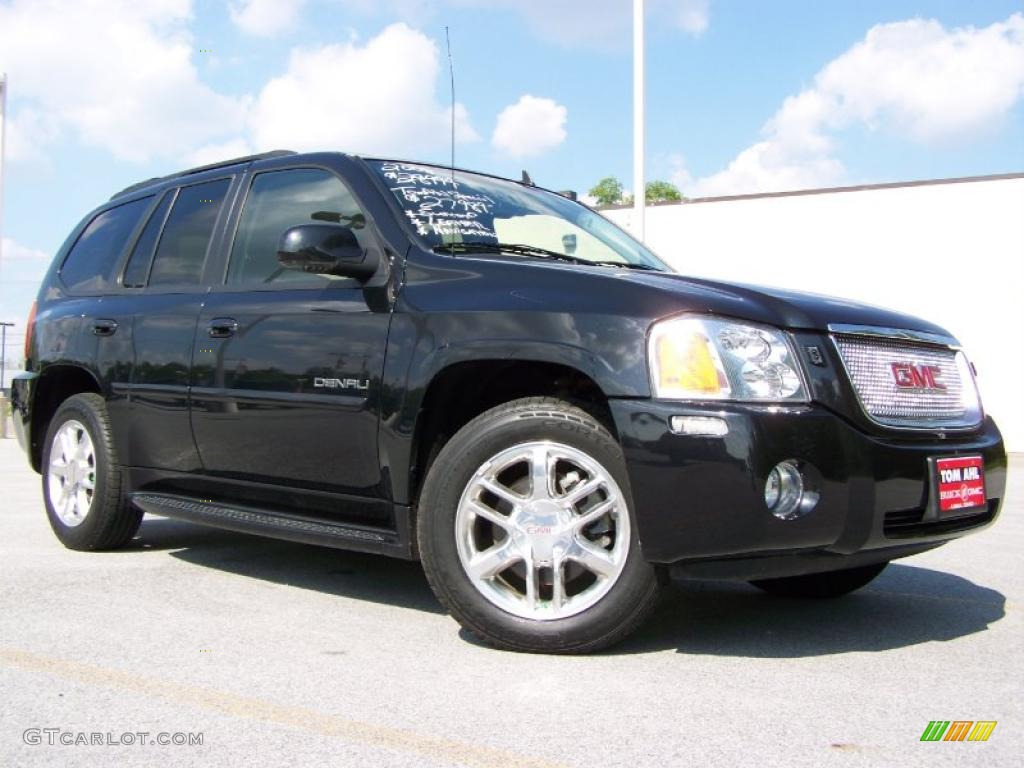 2008 carbon black metallic gmc envoy denali 4x4 30484578. Black Bedroom Furniture Sets. Home Design Ideas