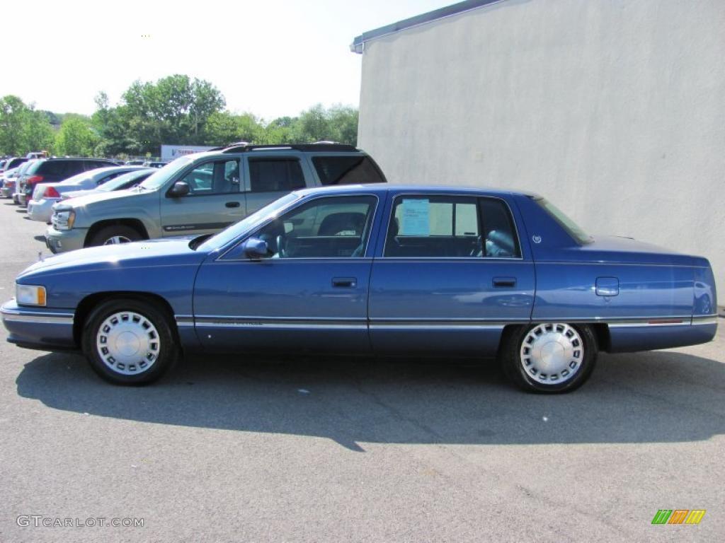 1996 medium adriatic blue metallic cadillac deville sedan. Cars Review. Best American Auto & Cars Review