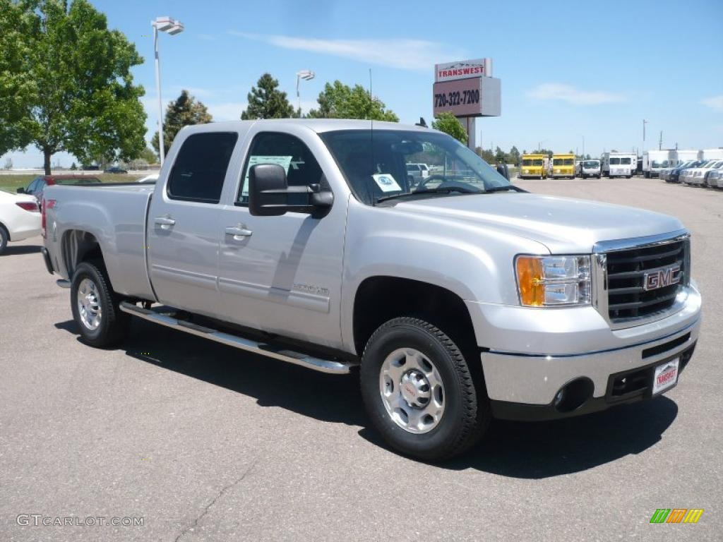 2010 pure silver metallic gmc sierra 2500hd slt crew cab. Black Bedroom Furniture Sets. Home Design Ideas